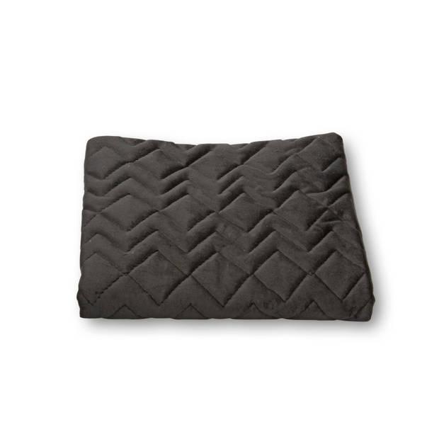 Blokker kussenhoes Chicago - zwart - 45x45 cm