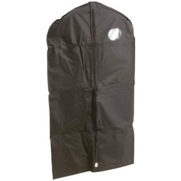 2x Zwarte kledinghoes 60 x 100 cm met venster - Kledinghoezen - Kleding opbergen accessoires