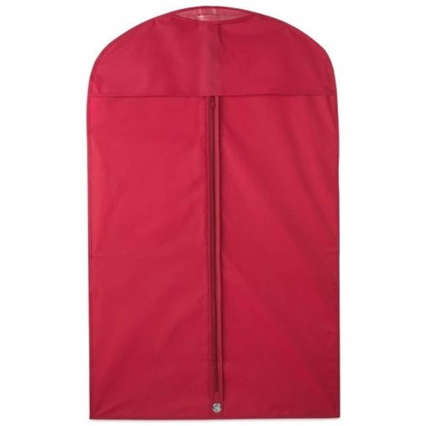 2x Beschermhoes voor kleding rood 100 x 60 cm - Kledinghoezen - Kleding opbergen accessoires