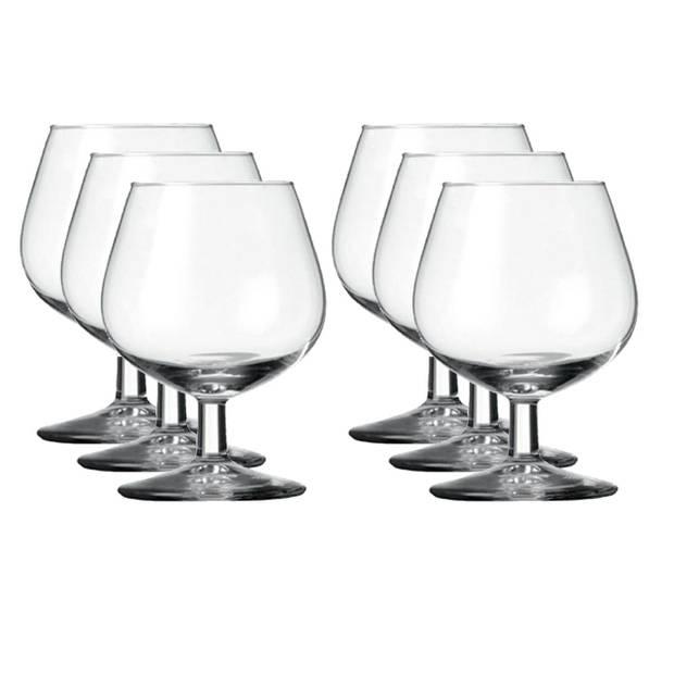 12x Cognacglazen transparant 150 ml Gilde - Whisky - Cognac glazen