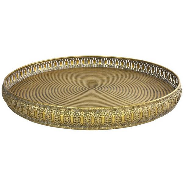 Countryfield dienblad Kevion 62 x 62 x 6,5 cm staal goud