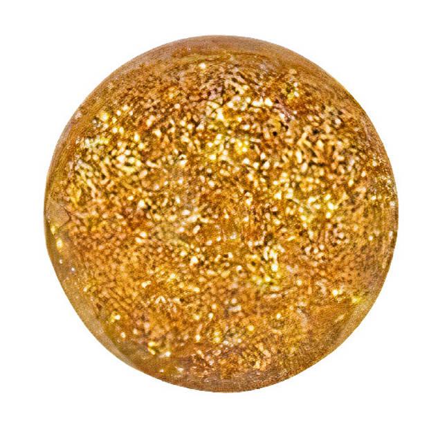 Goki stuiterbal glitter 49 mm rubber goud