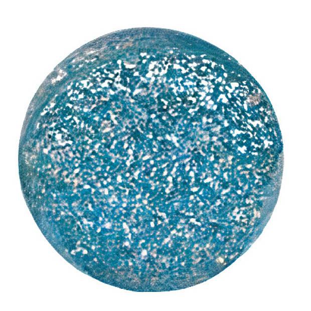 Goki stuiterbal glitter 49 mm rubber blauw
