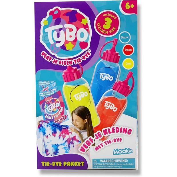 Mookie tie-dye-pakket Tybo junior 28 x 17 cm 9-delig