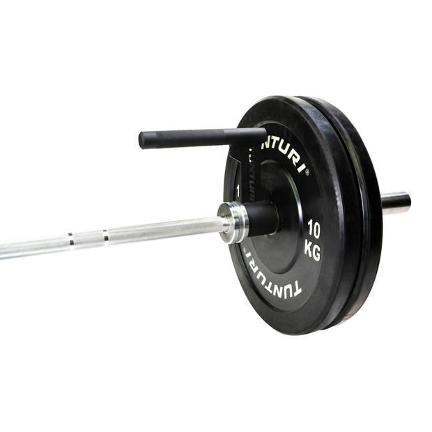 Tunturi single row handle bar 23,5 x 20,2 cm staal zwart 2 kg