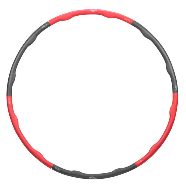 Avento hoelahoop 100 cm foam zwart/rood