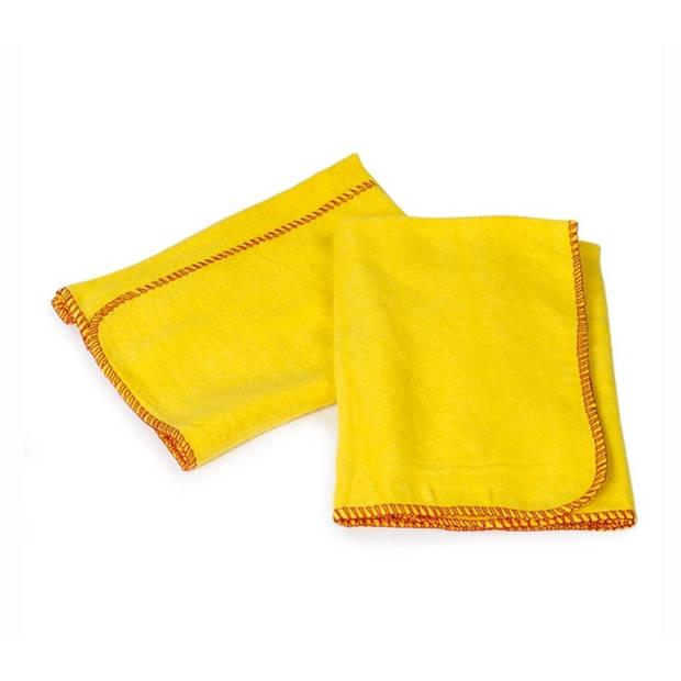 Starbright katoenen stofdoek geel 40 cm 2 stuks