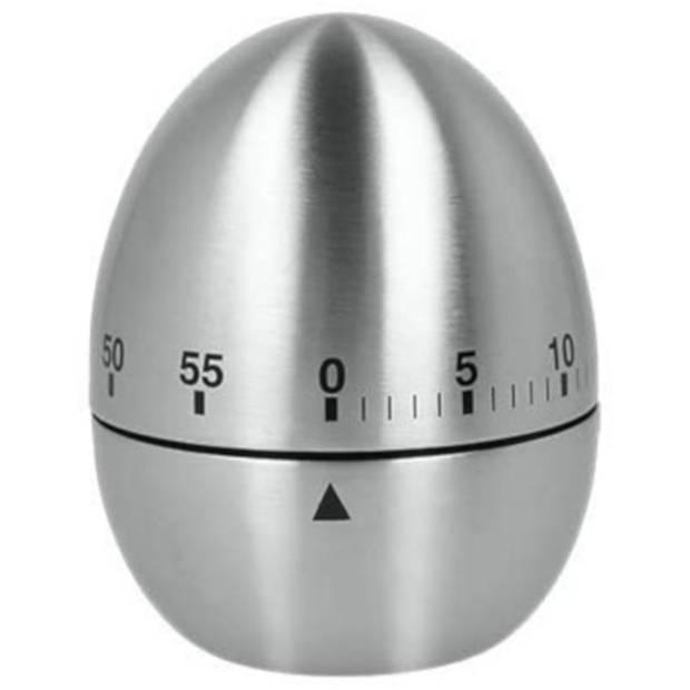 Metaltex kookwekker ei RVS zilver