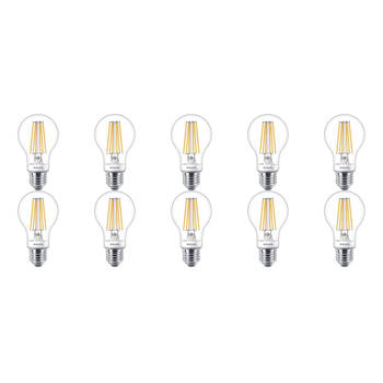 Korting Philips Led Lamp 10 Pack Sceneswitch Filament 827 A60 E27 Fitting Dimbaar 1.6w 7.5w Warm Wit 2200k 2700k