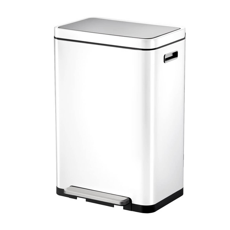 Eko Pedaalemmer X-cube 45 Liter Rvs Wit