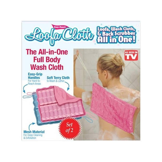Banzaa Easy Reach Loofa Cloth Duo Pack – 2 Stuks