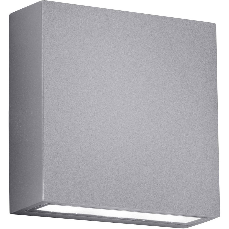Led Tuinverlichting - Tuinlamp - Trion Thano - Wand - 6w - Mat Titaan - Aluminium