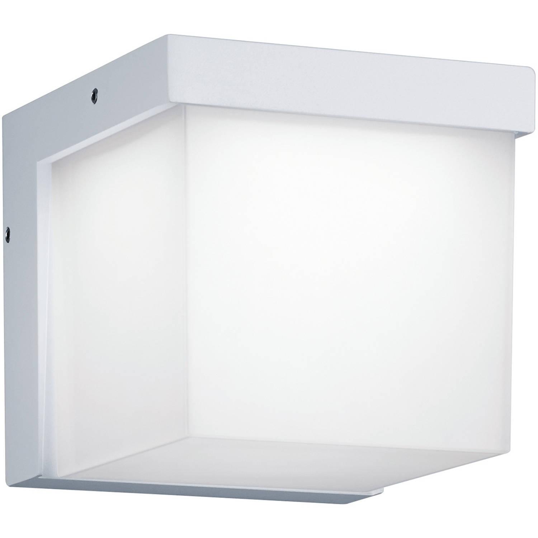 Led Tuinverlichting Tuinlamp Trion Yanely Wand 3w Mat Wit Aluminium