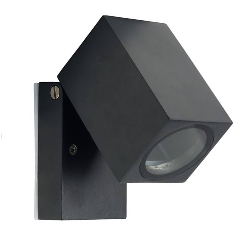 Led Tuinverlichting - Tuinlamp - Facto Bristo - Wand - Gu10 Fitting - Antraciet - Aluminium