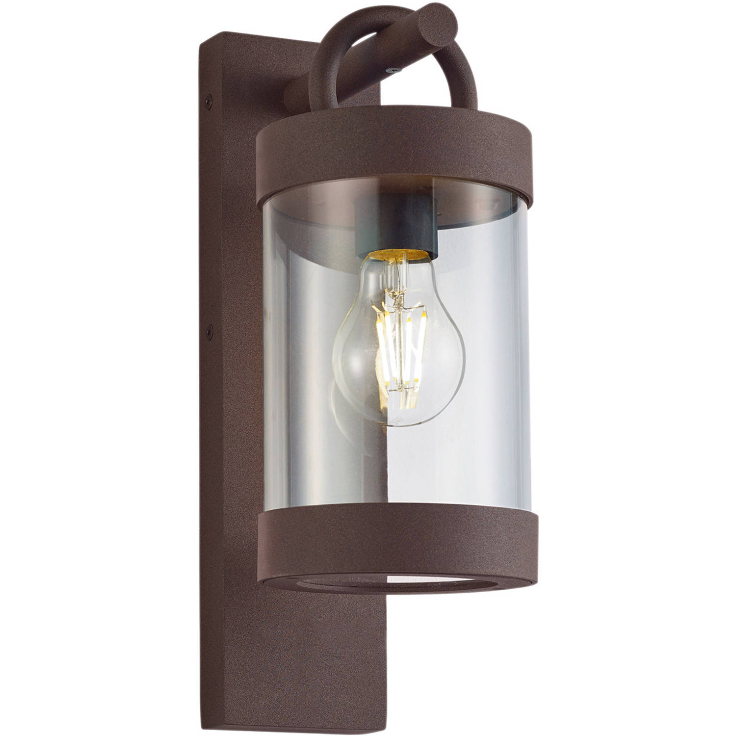 Led Tuinverlichting - Tuinlamp - Trion Semby - Wand - Lichtsensor - E27 Fitting - Roestkleur - Alumi