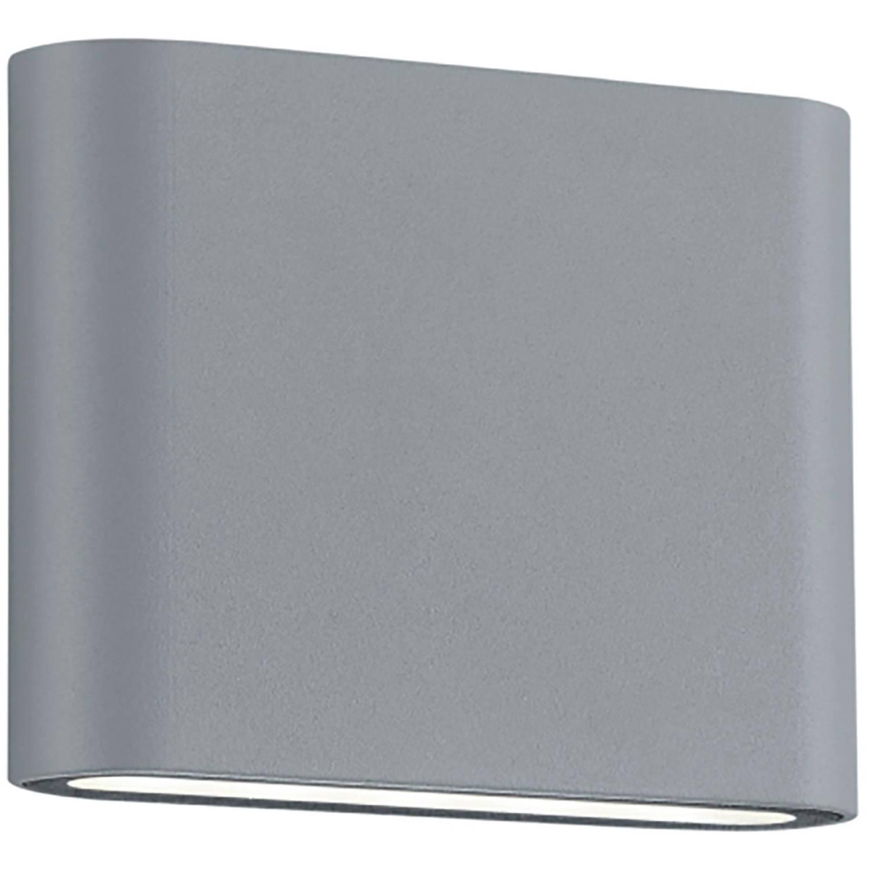 Led Tuinverlichting - Tuinlamp - Trion Thino - Wand - 4w - Mat Titaan - Aluminium