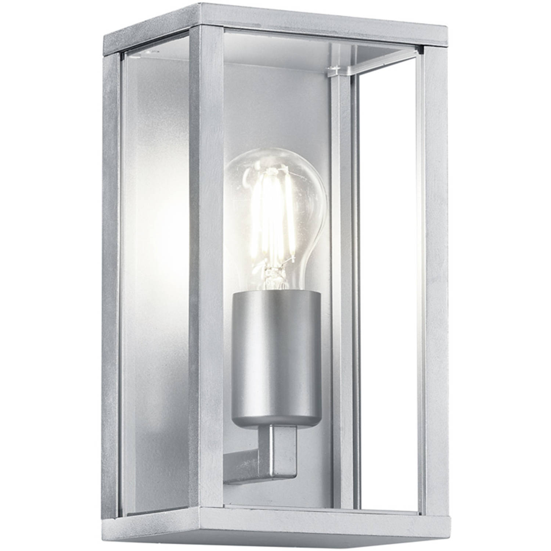 Led Tuinverlichting - Tuinlamp - Trion Garinola - Wand - E27 Fitting - Mat Grijs - Aluminium