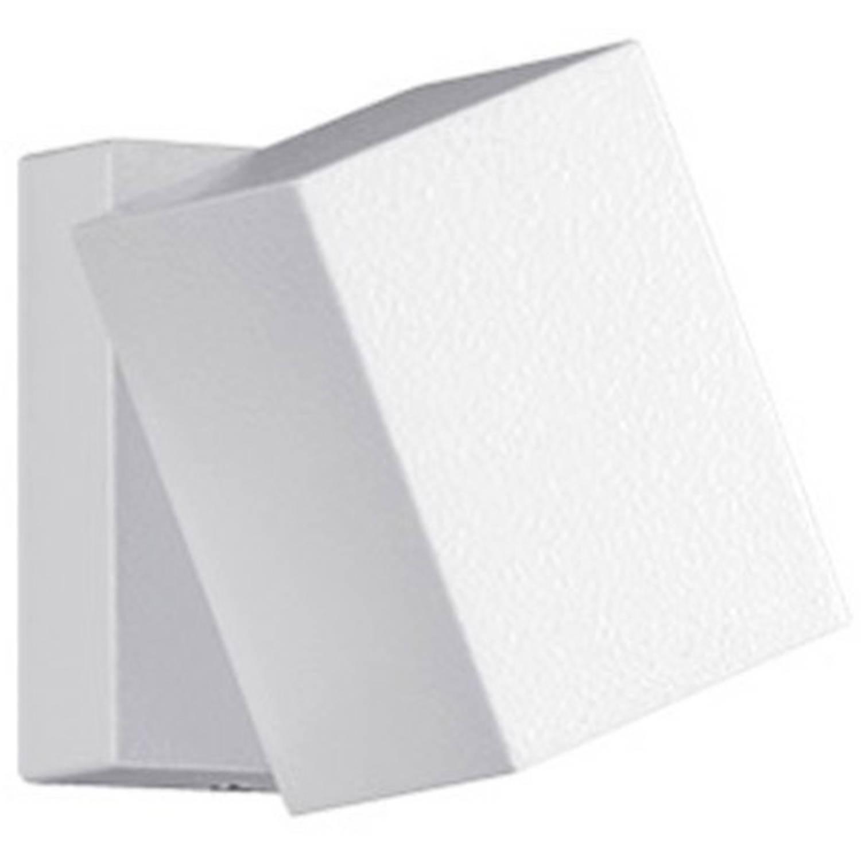 Led Tuinverlichting - Tuinlamp - Trion Tibena - Wand - 3w - Mat Wit - Aluminium - Draaibaar
