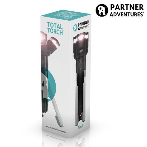 Total Torch 3-in-1 LED Zaklamp met statief
