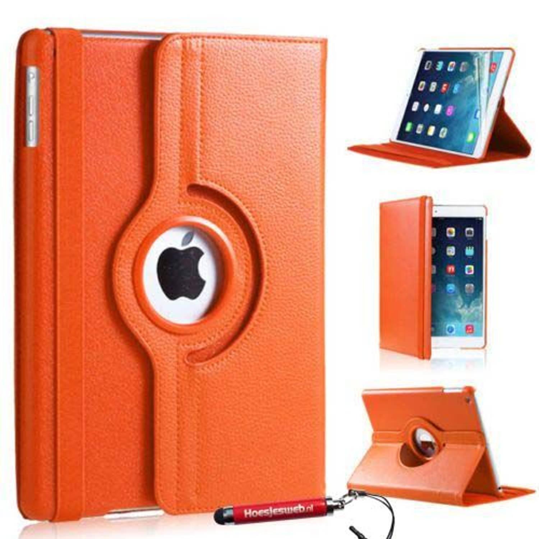 Oranje 360 Graden Draaibare Hoes Ipad Mini 1-2-3 Met Uitschuifbare Hoesjesweb Stylus