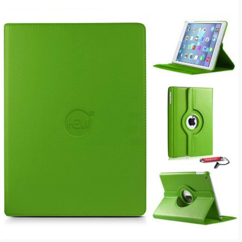 Groene 360 Graden Draaibare Hoes Ipad Mini 1-2-3 Met Uitschuifbare Hoesjesweb Stylus