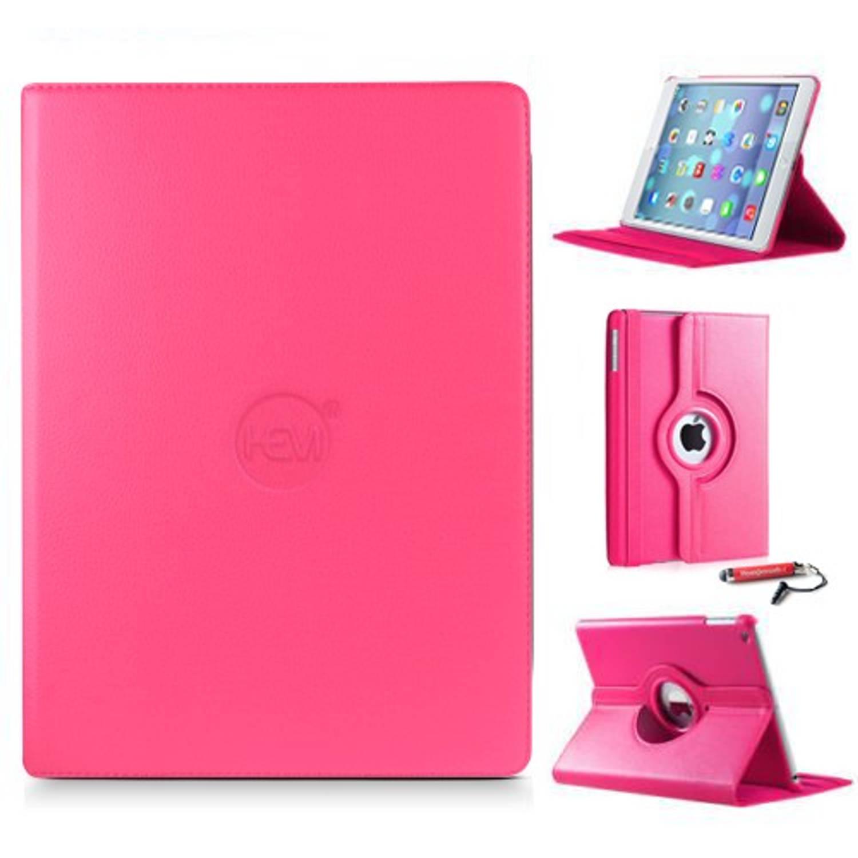 Ipad Hoes Mini 1-2-3 Hem Cover Hard Roze Met Uitschuifbare Hoesjesweb Stylus