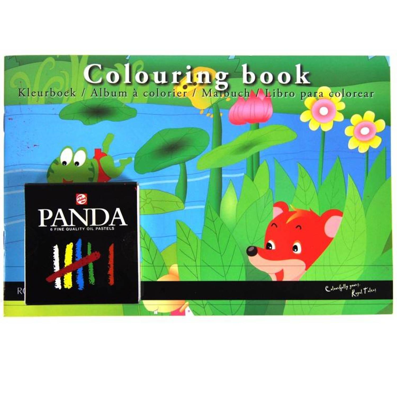 Korting Royal Talens Kleurboek Inclusief Pastel Krijtjes