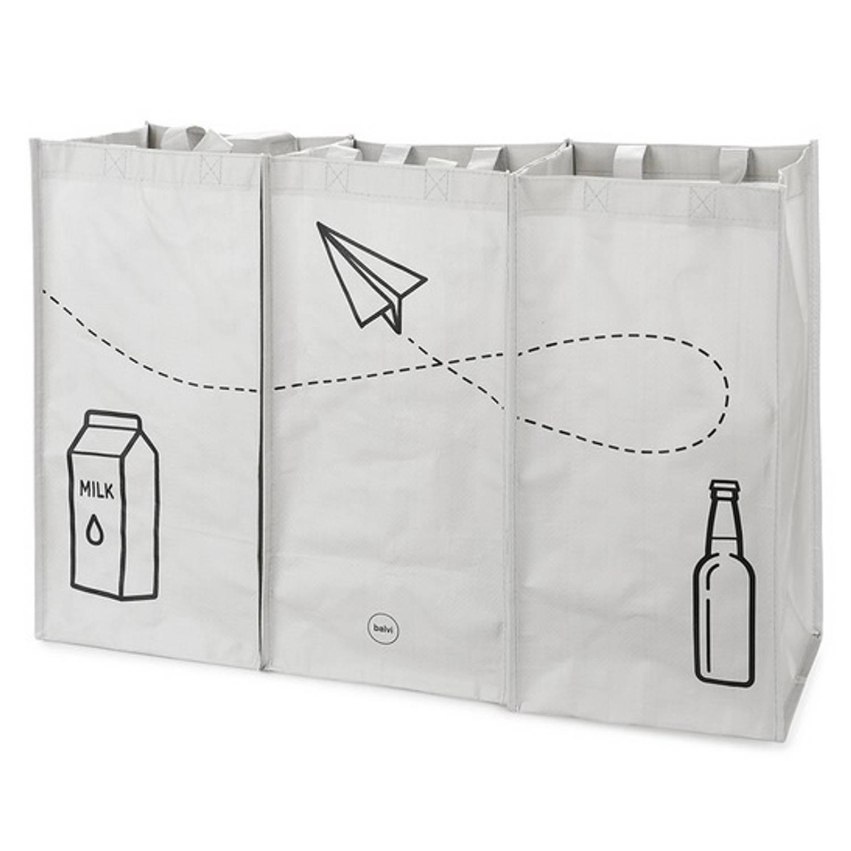 Balvi Recycle Shoppers 43 X 66 Cm Grijs 3 Stuks
