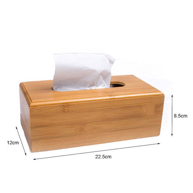 Tissuedoos - Bamboe - Tissuebox voor tissues - Tissue box houder voor