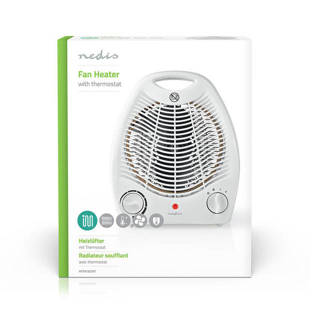 Nedis Ventilatorkachel 2000 W Thermostaat
