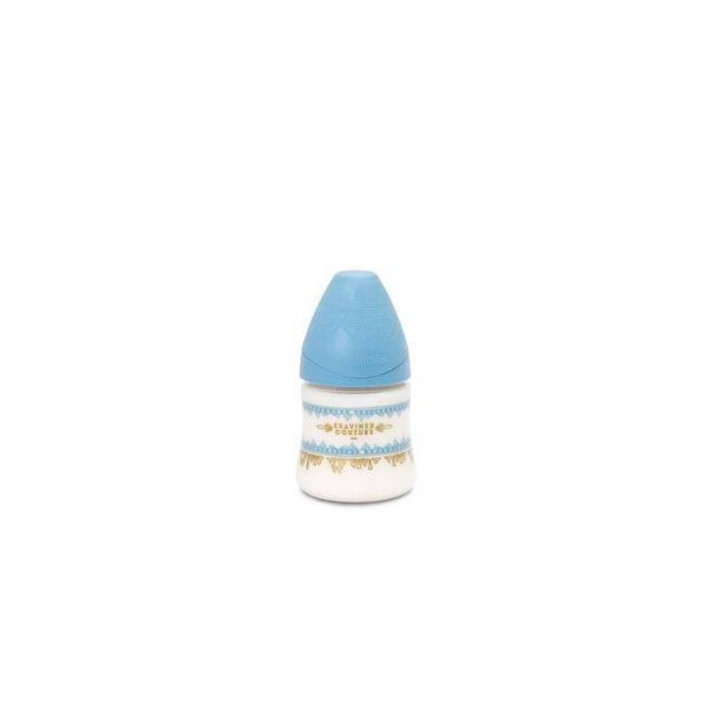 Korting Suavinex Etnische Fles 150 Ml Siliconen Rond Turquoise