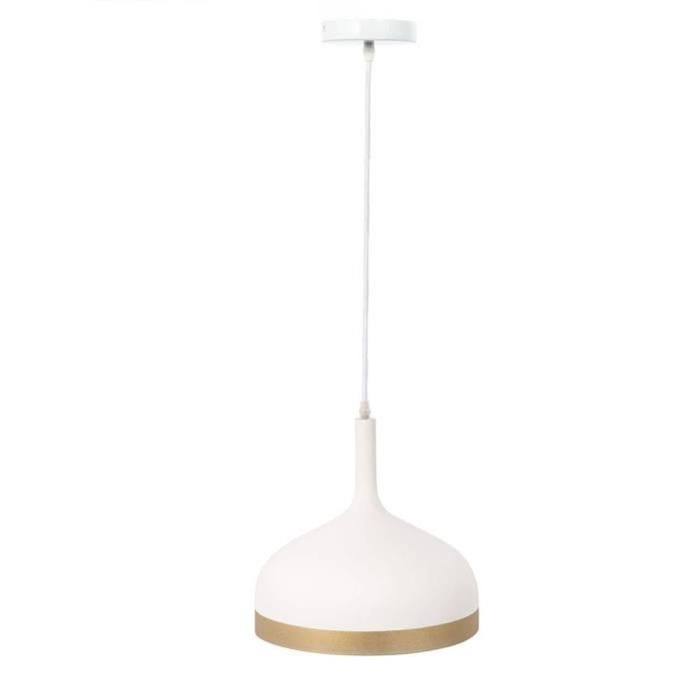 Korting The Home Deco Light Hangbel La12040 Mat Witgouden Omrande M4