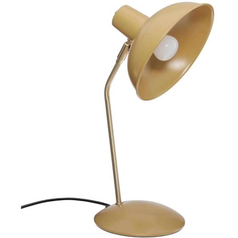 Korting Metalen Tafellamp E14 25 W H. 38 Cm Okergeel