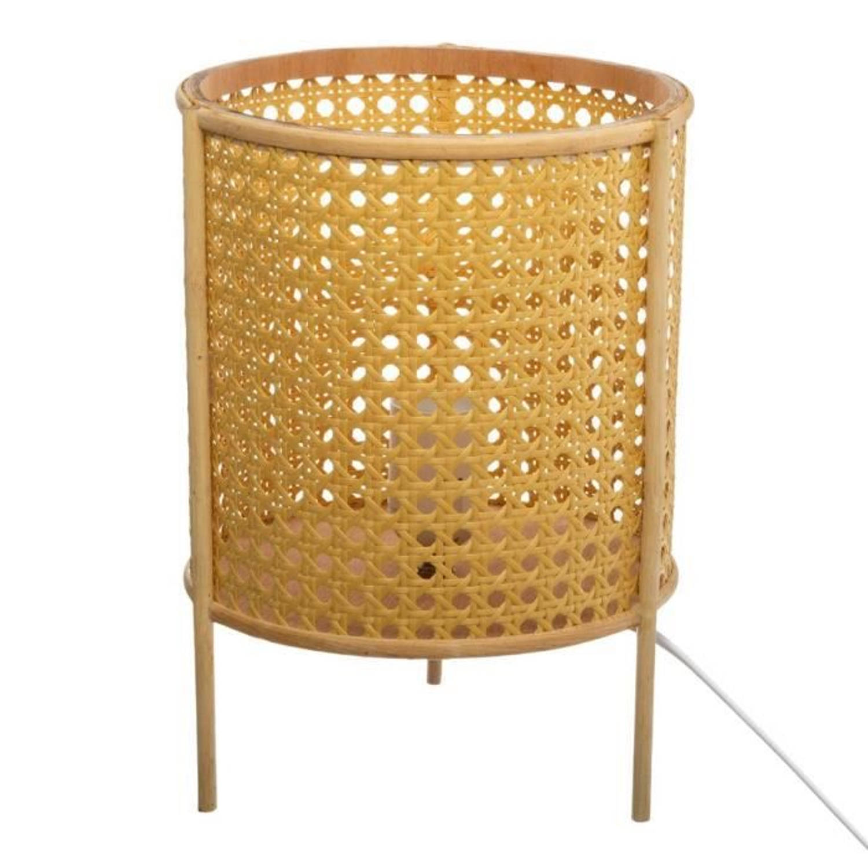 Korting Cane Tafellamp H 28 Cm Beige