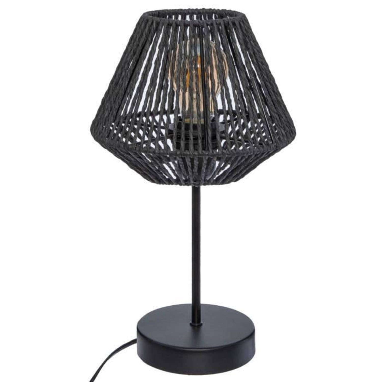 Korting Tafellamp Touw H 34 Cm Zwart