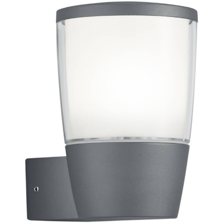 Led Tuinverlichting - Tuinlamp - Trion Shanila - Wand - 7w - Mat Zwart - Aluminium