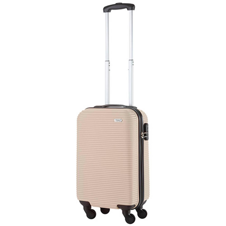 Korting Travelz Horizon Handbagagekoffer 54cm Handbagage Met Cijferslot Champagne