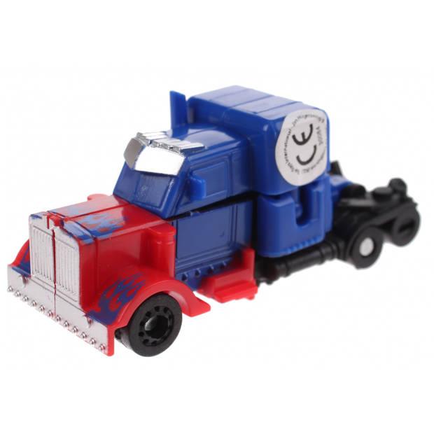 Toi-Toys Roboforces transformation robot blauw 10 cm