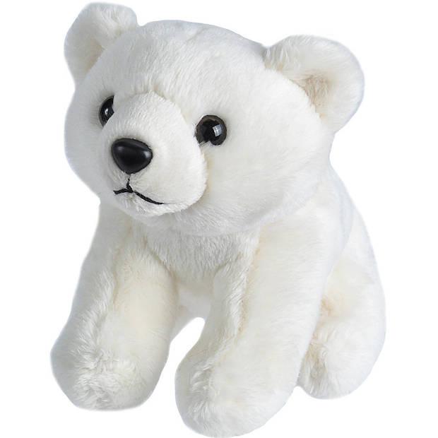 Pluche knuffel ijsbeer 15 cm