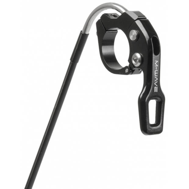 M-Wave zadelpen pneumatisch 31.6 x 420 mm aluminium zwart