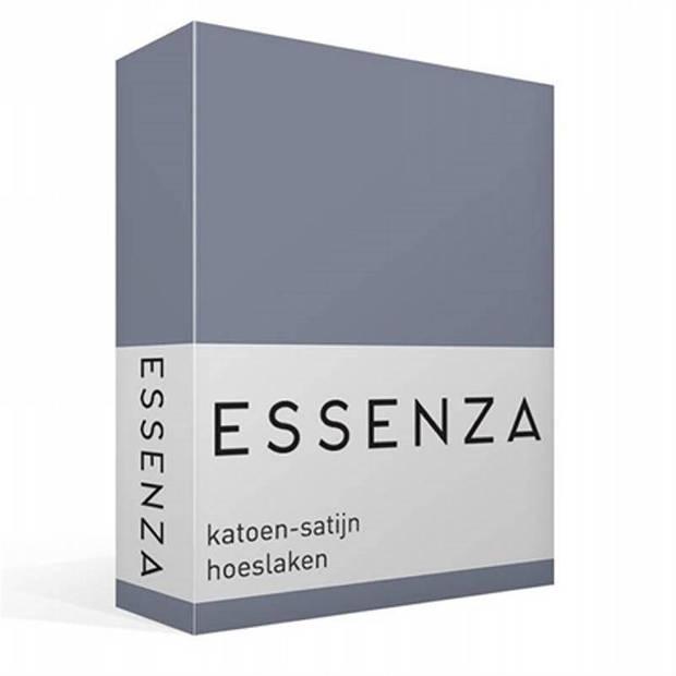 Essenza Satin hoeslaken - 100% katoen-satijn - 2-persoons (140x200 cm) - Stone blue