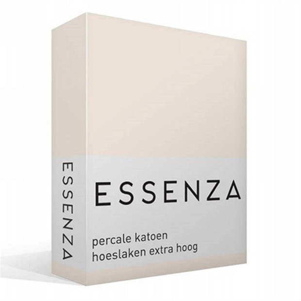 Essenza Premium percale katoen hoeslaken extra hoog - 100% percale katoen - 1-persoons (90x210 cm) - Oyster