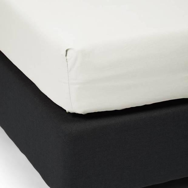Essenza Premium percale katoen hoeslaken extra hoog - 100% percale katoen - Lits-jumeaux (180x200 cm) - Oyster