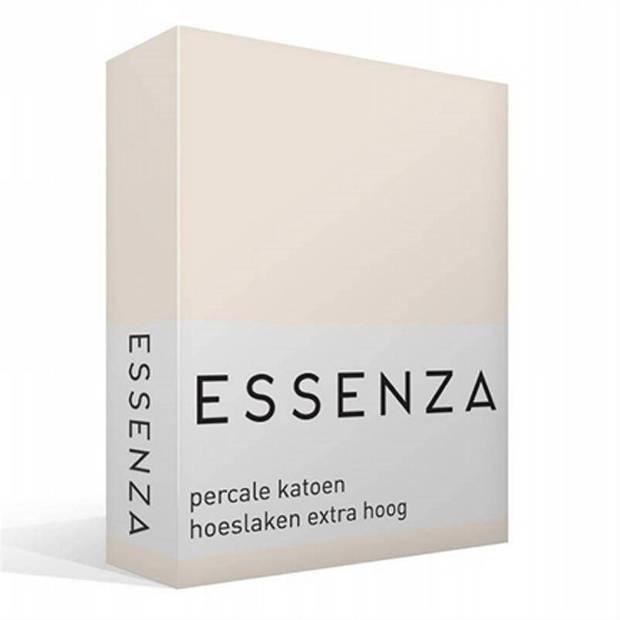 Essenza Premium percale katoen hoeslaken extra hoog - 100% percale katoen - Lits-jumeaux (180x220 cm) - Oyster