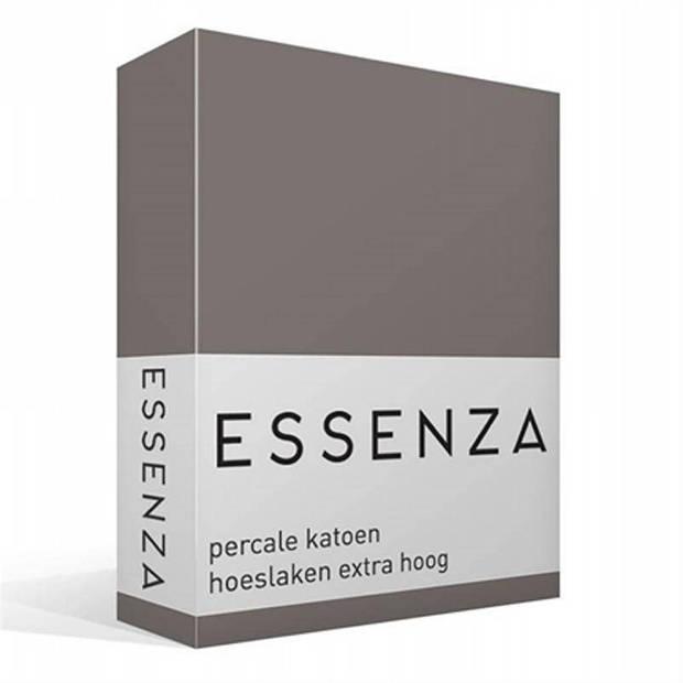 Essenza Premium percale katoen hoeslaken extra hoog - 100% percale katoen - 2-persoons (140x200 cm) - Steel grey