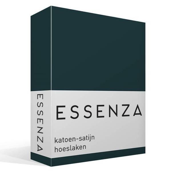 Essenza Satin hoeslaken - 100% katoen-satijn - 1-persoons (80x200 cm) - Pine Green