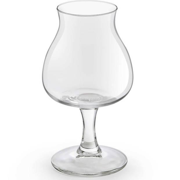 6x Speciaal bierglazen/tulpglazen transparant 260 ml Lund - Bierglas