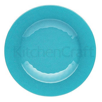 Korting Set Van 4 Serveerbord Blauw 22cm Kitchencraft Palmero