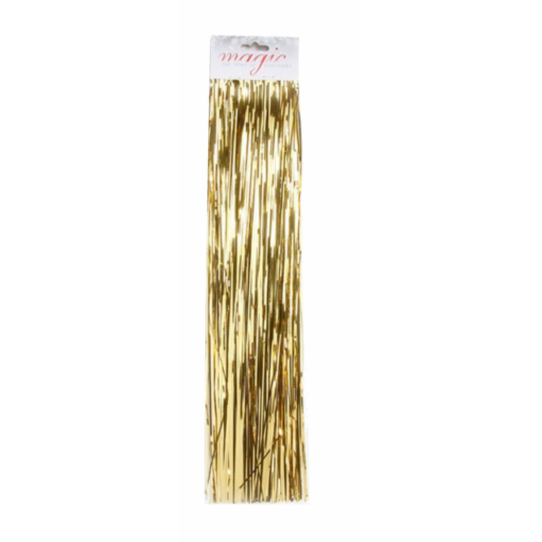 Korting Lametta Engelenhaar Goud 50 Cm Lametta folie Haar Gouden Kerstboomversiering