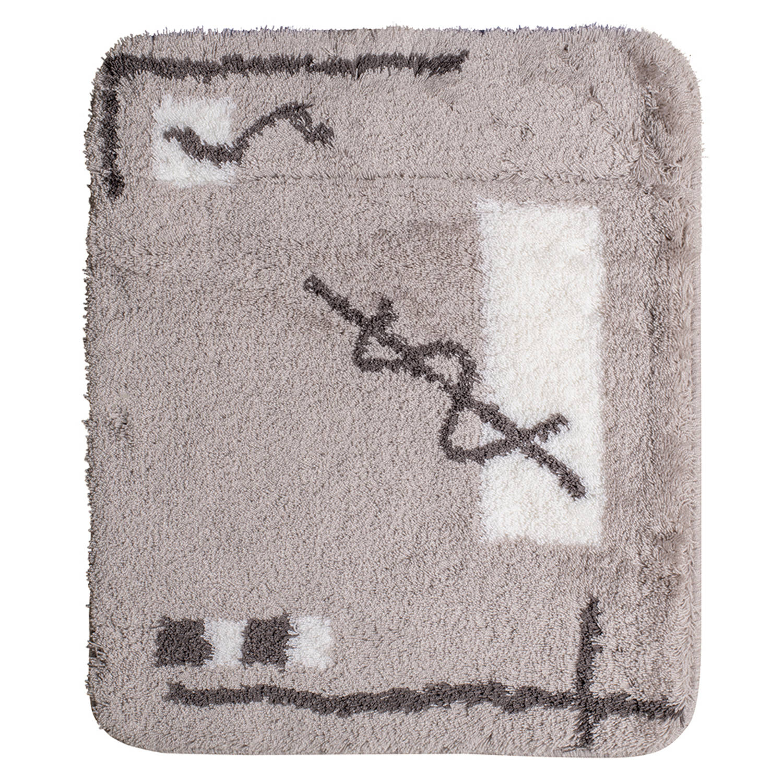 Wicotex Badmat 60x90 cm. Acryl grijs design tekening 4037-